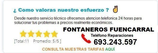 Fontanero Fuencarral precio